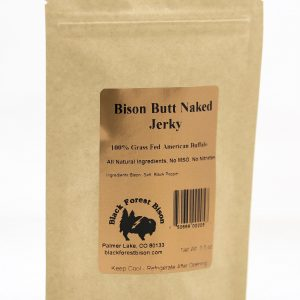 Bison Butt Naked Jerky | 100% Grass Fed Buffalo Jerky