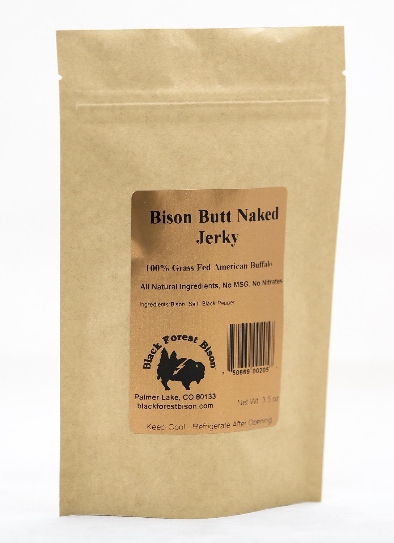 Bison Butt Naked Jerky   100% Grass Fed Buffalo Jerky