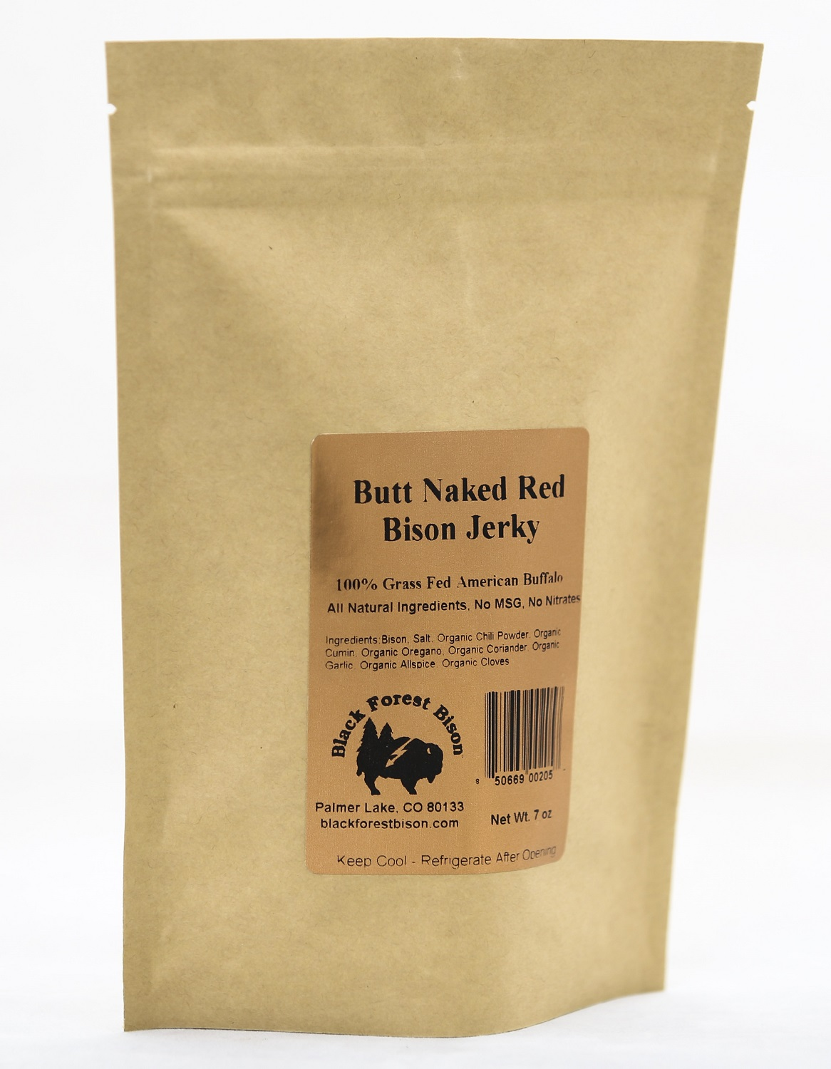 Butt Naked Red Bison Jerky